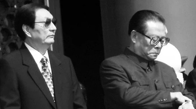 在干部选拔上,江泽民只有一个原则,就是对他不效忠的人都不用。(STEPHEN SHAVER/AFP/Getty Images)
