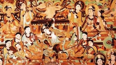 敦煌壁画 神佛 (图片来源:神韵艺术团官方网站)