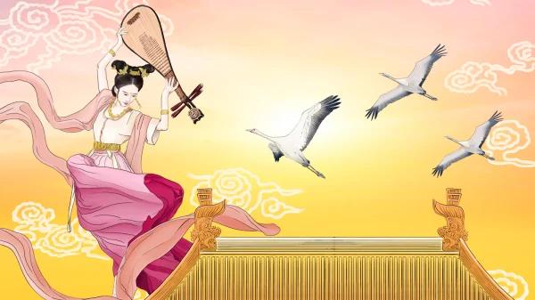 昔人已乘黄鹤去,此地空余黄鹤楼。黄鹤一去不复返,白云千载空悠悠。(绘图:Winnie Wang/看中国)